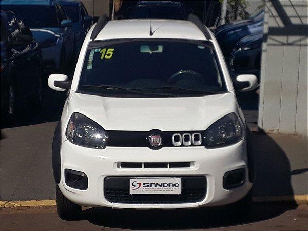 FIAT   UNO  1.4 EVO WAY 8V FLEX 4P AUTOMATIZADO 2014  /  2015  Branco