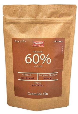 Chocolate Artesanal 60% AO LEITE - Bean to Bar