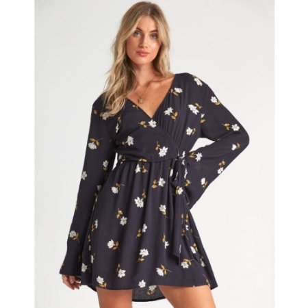 VESTIDO SIDE OUT BLACK FLORAL BILLABONG