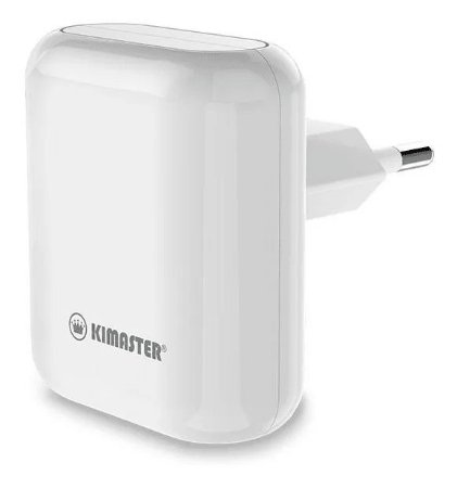 Carregador viagem Kimaster 2.4A 2 USB T202