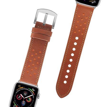Pulseira couro Apple Watch 42/44 mm