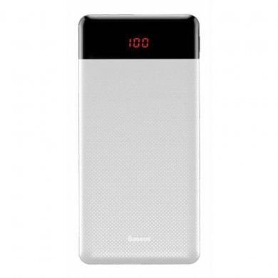 Bateria Portatil Baseus Digital 10.000mah Branca PPALL-AXL02