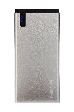 Bateria Portatil E2U 8000MAH Digital Cinza
