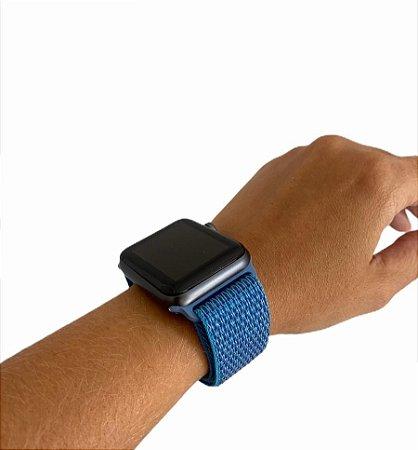 Pulseira Tecido Apple Watch 42/44mm Azul