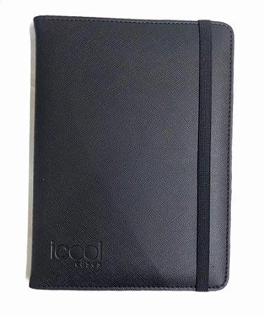 "Case Icool Tablet 7"" Couro Preto"