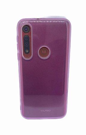Case Tpu Reforçado Moto Macro / G8 Play Rosa