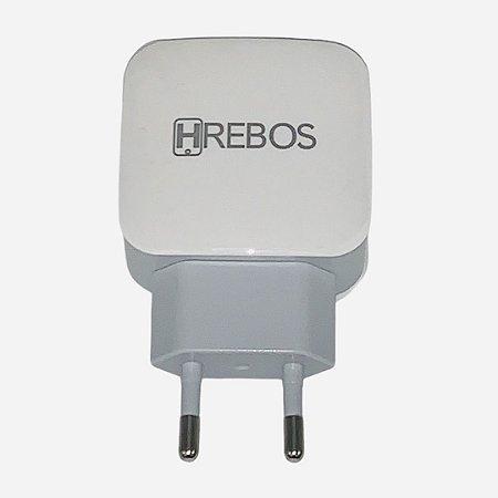 Carregador Viagem HREBOS Turbo 4.0 USB HS-166