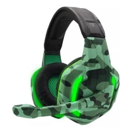 Headset Gamer Camuflado Xp-4 Naval Tecdrive Pc Xbox One Ps4