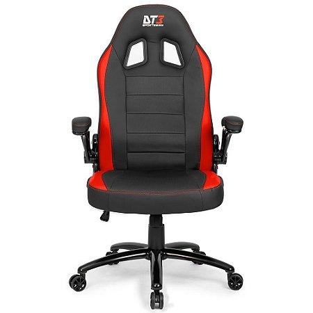 Cadeira Gamer GTi RED - Preta DT3 - com almofada de cabeça