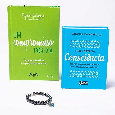 Kit Seu Compromisso Consciente - Livros + Pulseira = Frete Grátis