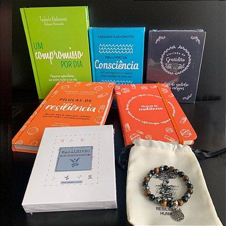 kit Resiliência - 4 Livros + 1 Moleskine + 1 Baralhinho dos Sentimentos + 1 Pulseira Super Proteção e Frete Grátis