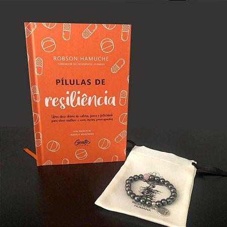 Pílulas de Resiliência + Pulseira Hematita com Quartzo Rosa