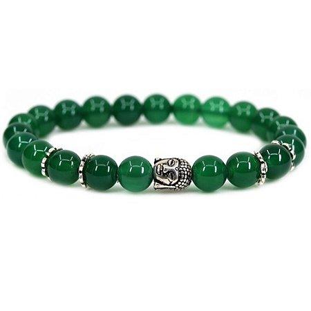 Pulseira Buda Despertar Jade Verde Pedra Natural