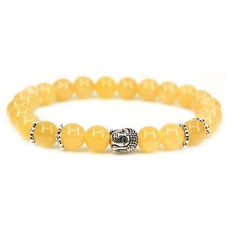Pulseira Buda Despertar Jade Amarela Pedra Natural