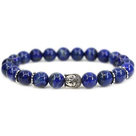 Pulseira  Buda Despertar Lápiz Lazuli Pedra Natural