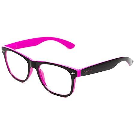 Armação de óculos Camou Reeves Preto e Lilás