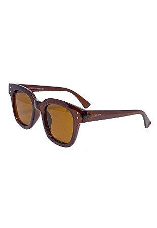 Óculos de Sol Camou Dots Marrom