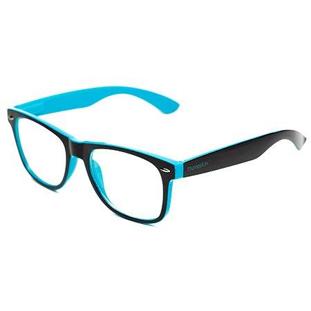 Armação de óculos Camou Reeves Preto e Azul