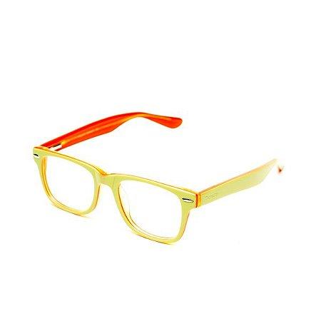 Armação de Óculos Infantil Camou Verde e Laranja
