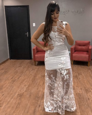 Vestido de Noiva Saia Transparente