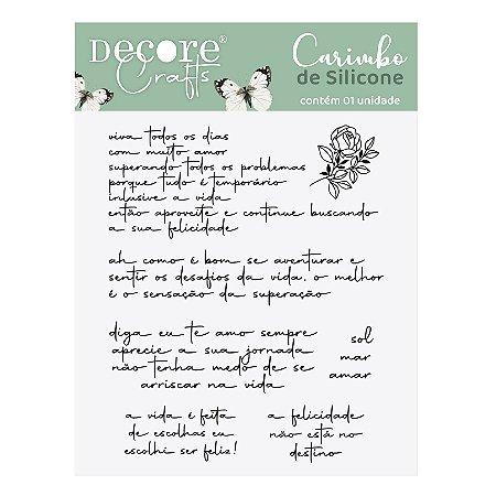 LANÇ / CARIMBO de SILICONE - Frases e Rosas
