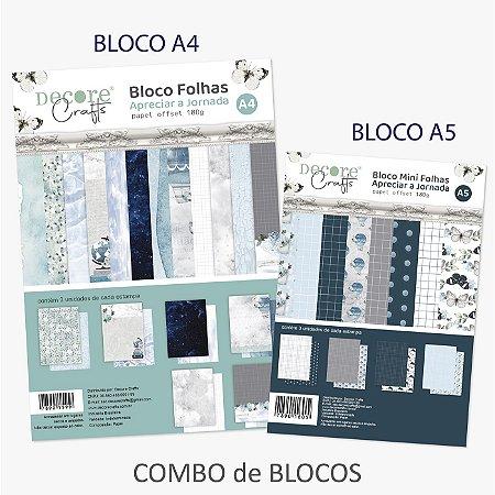 Combo BLOCOS A4 e A5 - APRECIAR A JORNADA