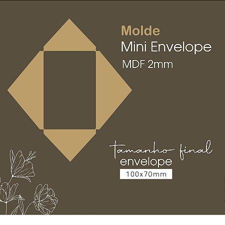 Molde Mini Envelope MDF - Tamanho Final 100x70mm