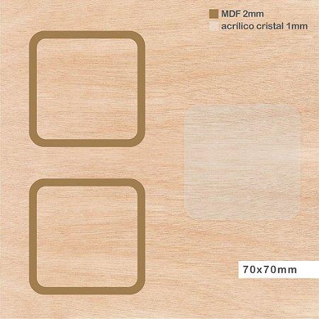 Shaker Box MDF - Quadrado - 70 x 70mm