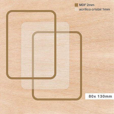 Shaker Box MDF - Retângulo - 80 x 130mm
