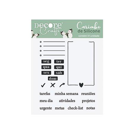 COLEÇÃO CARIMBOS DE SILICONE - PLANNER - 90x100mm