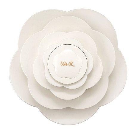 Armazenador Bloom Storage  Branco WR - Grande ( BRINDE = DECORE NOTE MENTA + FIO DE CABELO MENTA )
