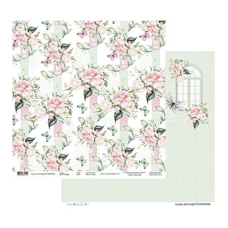 LANÇAMENTO - UMA NOVA PRIMAVERA - Ticket Floral -180G - 315 x 305mm