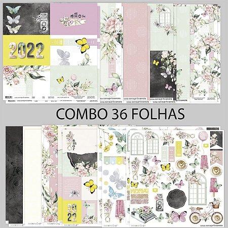 COMBO UMA NOVA PRIMAVERA 36 FOLHAS - 30,5 X 30,5CM