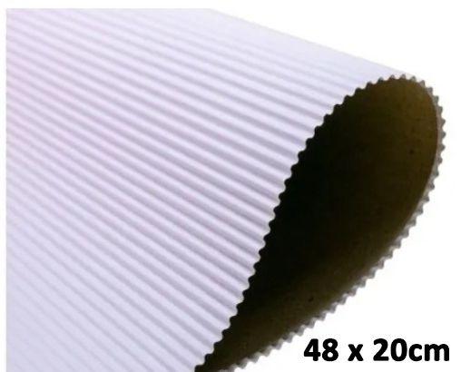 Papel Ondulado Branco - 20 x 48 cm   1 unidade