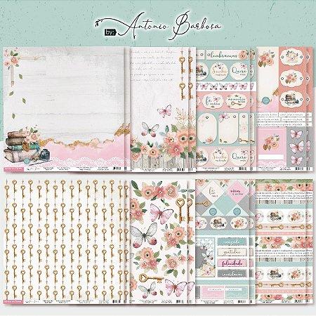 PROMO - Kit Coleção Sonho de Flores - 16 folhas - BLACK FRIDAY