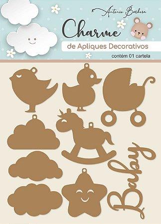 Charme de Apliques Decorativos - Amor Eterno Baby I (MDF)