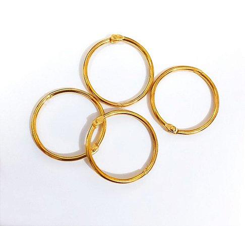 Argola Articulada 20mm -  Dourada - Metal