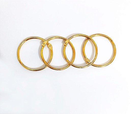 Argola Articulada 25mm -  Dourada - Metal