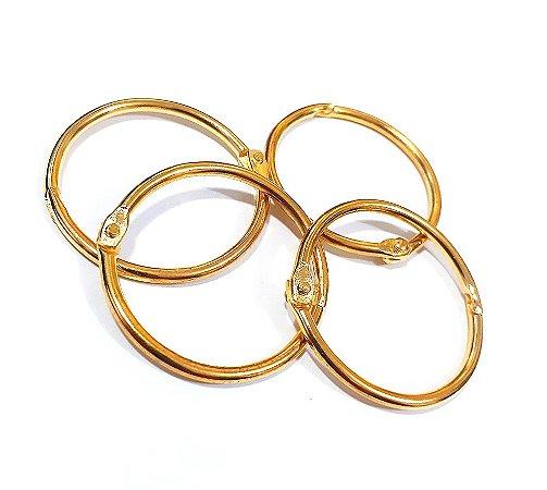 Argola Articulada 35mm -  Dourada - Metal
