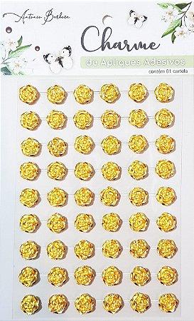 Charme de Adesivos Decorativos - Flor Dourada