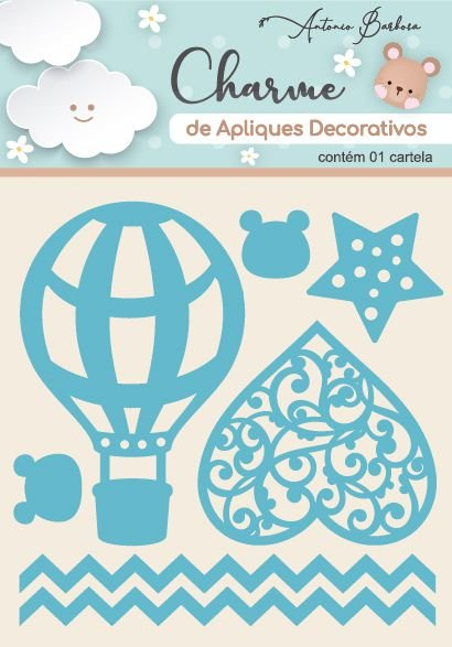 Charme de Apliques Decorativos - Amor Eterno Elementos Baby Azul