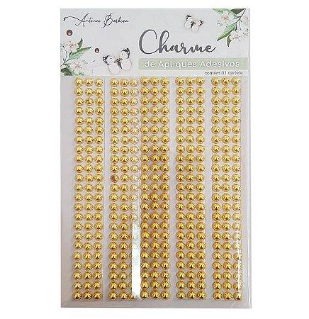 Charme de Adesivos Decorativos - Pérola Dourada