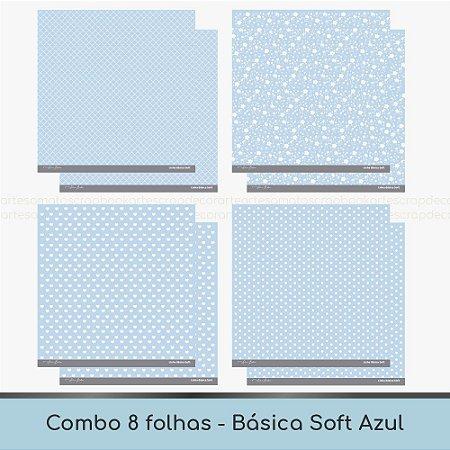 Combo Coleção Básica Soft - 8 Folhas - Azul
