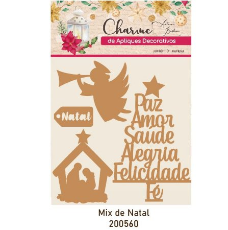 Charme de Apliques Decorativos - Mix de Natal