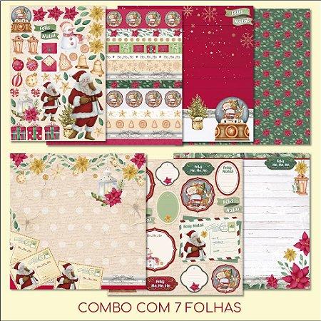 COMBO I - Meu Natal Colorido (7 FOLHAS)
