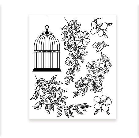 PROMO - Carimbo Floral II - Encanto de Flores