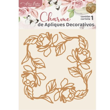 Apliques MDF Floral Moldura - Encanto de Flores