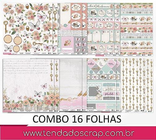PROMO - Combo com 16 folhas - Sonho de Flores