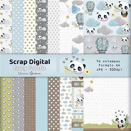 PROMO - Scrap Digital Baby Panda by Vinicius Barbosa | A4 - 16 folhas| JPEG - 300dpi