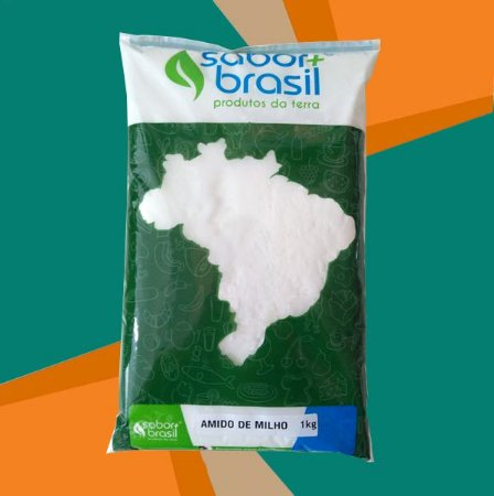 AMIDO DE MILHO 1kg - SABOR MAIS BRASIL